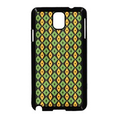Green Yellow Rhombus Pattern Samsung Galaxy Note 3 Neo Hardshell Case