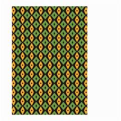 Green yellow rhombus pattern Small Garden Flag