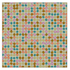Retro Dots Pattern Satin Scarf