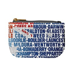 Australia Place Names Flag Mini Coin Purses