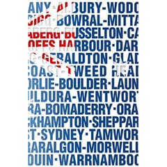 Australia Place Names Flag 5.5  x 8.5  Notebooks