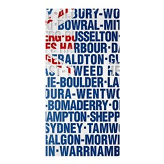 Australia Place Names Flag Shower Curtain 36  x 72  (Stall)