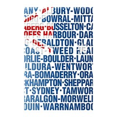 Australia Place Names Flag Shower Curtain 48  x 72  (Small)