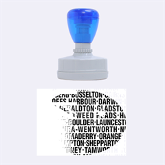 Australia Place Names Flag Rubber Oval Stamps