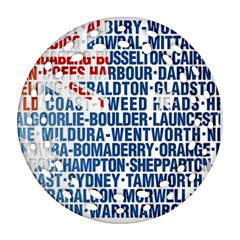 Australia Place Names Flag Ornament (round Filigree)