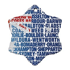 Australia Place Names Flag Snowflake Ornament (2-Side)
