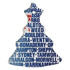 Australia Place Names Flag Christmas Tree Ornament (2 Sides)