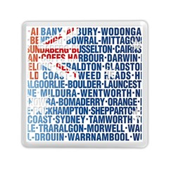 Australia Place Names Flag Memory Card Reader (square)