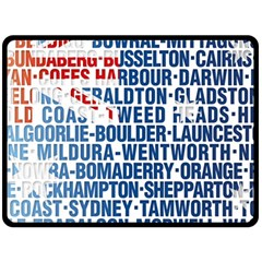 Australia Place Names Flag Double Sided Fleece Blanket (Large)