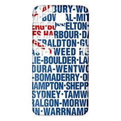 Australia Place Names Flag Samsung Galaxy S5 Back Case (White)