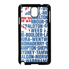 Australia Place Names Flag Samsung Galaxy Note 3 Neo Hardshell Case (Black)