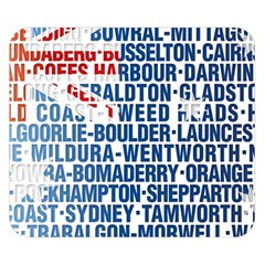 Australia Place Names Flag Double Sided Flano Blanket (Small)