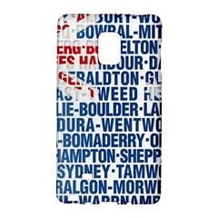 Australia Place Names Flag Galaxy Note Edge