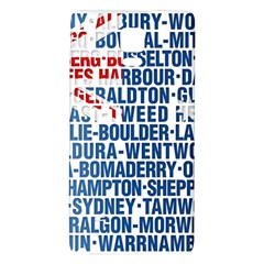 Australia Place Names Flag Galaxy Note 4 Back Case