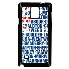 Australia Place Names Flag Samsung Galaxy Note 4 Case (Black)