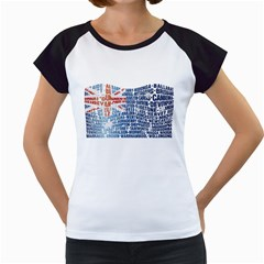 Australia Place Names Flag Women s Cap Sleeve T