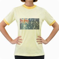 Australia Place Names Flag Women s Fitted Ringer T-Shirts