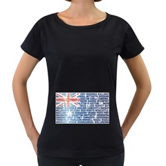 Australia Place Names Flag Women s Loose-Fit T-Shirt (Black)