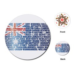 Australia Place Names Flag Playing Cards (Round)