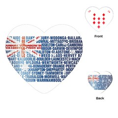 Australia Place Names Flag Playing Cards (Heart)