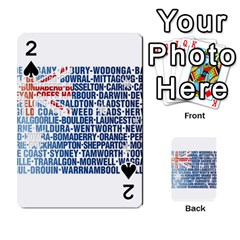 Australia Place Names Flag Playing Cards 54 Designs