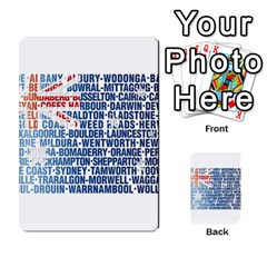 Australia Place Names Flag Multi Purpose Cards (rectangle)