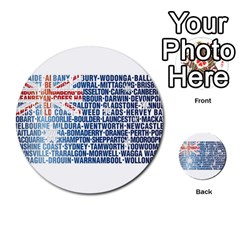 Australia Place Names Flag Multi-purpose Cards (Round)