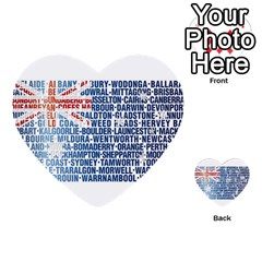 Australia Place Names Flag Multi-purpose Cards (Heart)