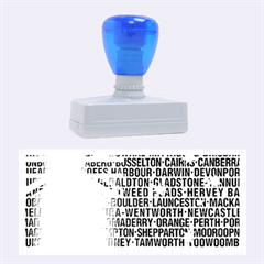 Australia Place Names Flag Rubber Stamps (large)