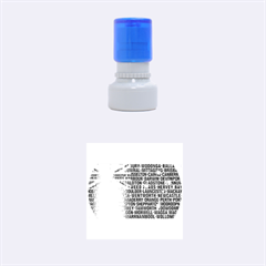 Australia Place Names Flag Rubber Round Stamps (Small)