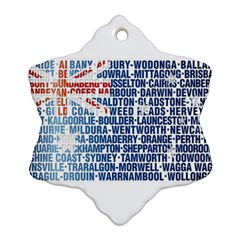 Australia Place Names Flag Snowflake Ornament (2 Side)