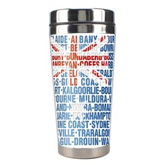 Australia Place Names Flag Stainless Steel Travel Tumblers