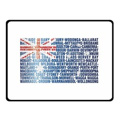 Australia Place Names Flag Double Sided Fleece Blanket (Small)