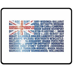 Australia Place Names Flag Double Sided Fleece Blanket (Medium)