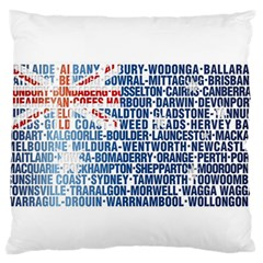Australia Place Names Flag Large Flano Cushion Cases (One Side)