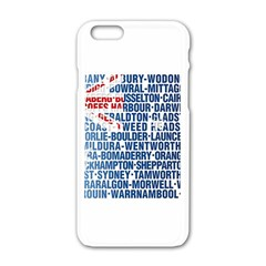 Australia Place Names Flag Apple iPhone 6 White Enamel Case