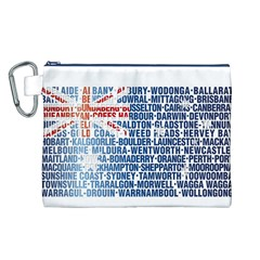 Australia Place Names Flag Canvas Cosmetic Bag (L)