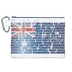 Australia Place Names Flag Canvas Cosmetic Bag (XL)