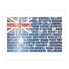 Australia Place Names Flag Double Sided Flano Blanket (Large)