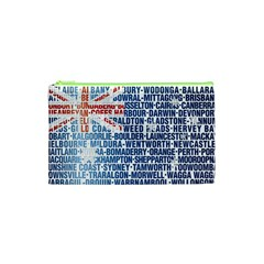 Australia Place Names Flag Cosmetic Bag (XS)