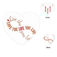 Live The Life You Love Playing Cards (Heart)