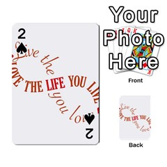 Live The Life You Love Playing Cards 54 Designs