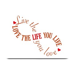 Live The Life You Love Plate Mats