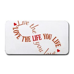 Live The Life You Love Medium Bar Mats