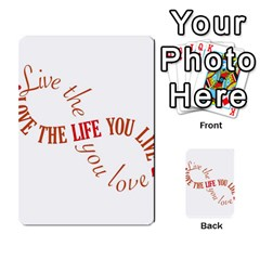Live The Life You Love Multi Purpose Cards (rectangle)