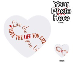 Live The Life You Love Multi-purpose Cards (Heart)