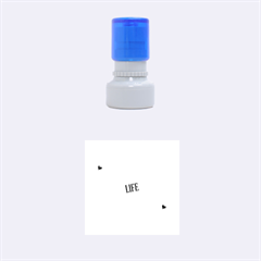Live The Life You Love Rubber Round Stamps (small)