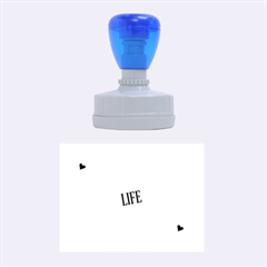 Live The Life You Love Rubber Oval Stamps