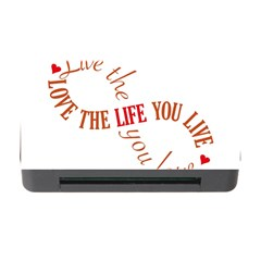 Live The Life You Love Memory Card Reader with CF