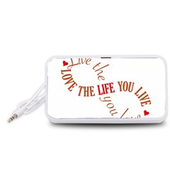 Live The Life You Love Portable Speaker (White)